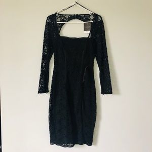 Black laced TopShop dress